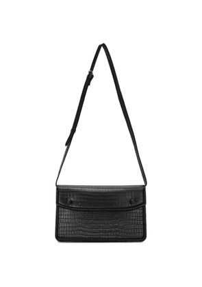 Maison Margiela Black Croc Accordion Messenger Bag