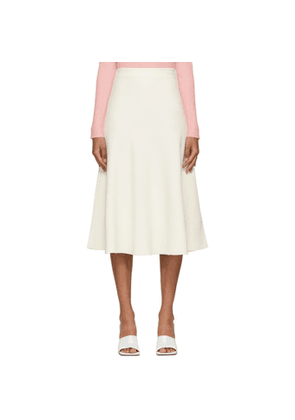 Valentino Off-White Crepe Couture Skirt