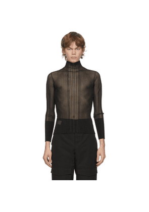 Dion Lee Black Opacity Pleat Long Sleeve T-Shirt