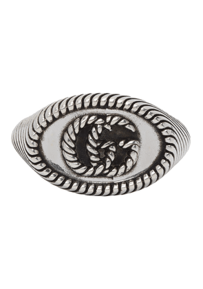 Gucci Silver Double G Marmont Pinky Ring