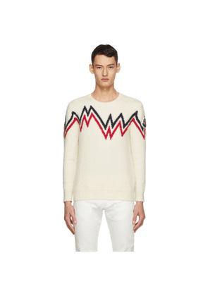 Moncler Off-White Wool and Alpaca Sweater