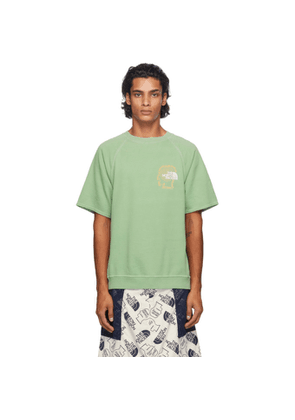 Brain Dead Green The North Face Edition Climber Short Sleeve Sweatshirt