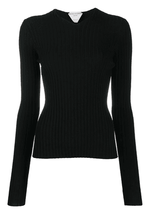 Bottega Veneta ribbed V-neck jumper - Black