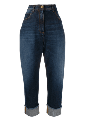 Balmain high-waisted cotton jeans - Blue