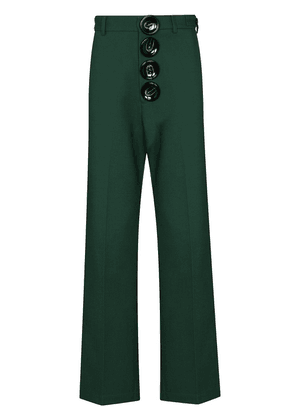 Pronounce buttoned wool trousers - Green