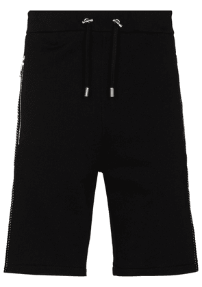 Balmain 3D applique-detail Bermuda shorts - Black
