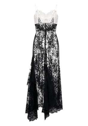 Alexander McQueen panelled lace dress - Black