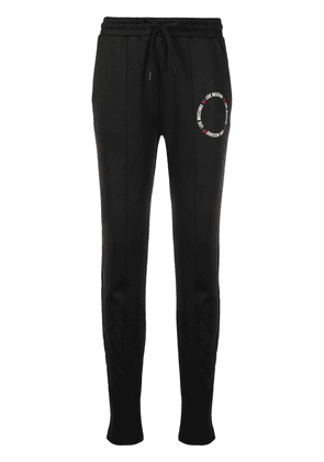 Love Moschino logo drawstring tracksuit bottoms - Black
