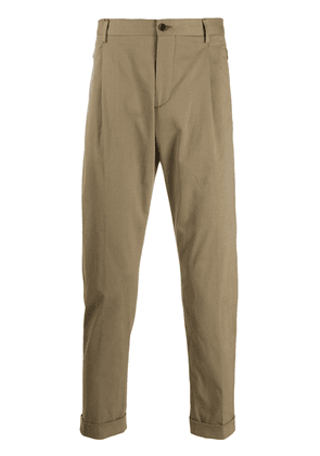 Etro zip-pocket tapered trousers - Neutrals