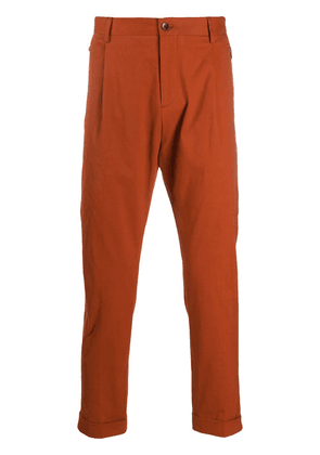Etro zip-pocket tapered trousers - ORANGE