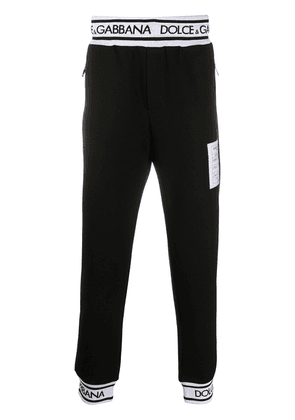 Dolce & Gabbana logo patch detail track pants - Black