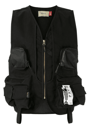 PACE Recycled Canvas Army Vest V20 - Black