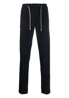 Eleventy straight-leg drawstring trousers - Blue