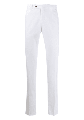 Pt01 slim fit chino trousers - White
