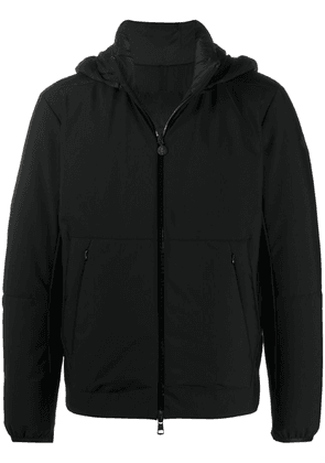 Moncler padded-rear hooded jacket - Black