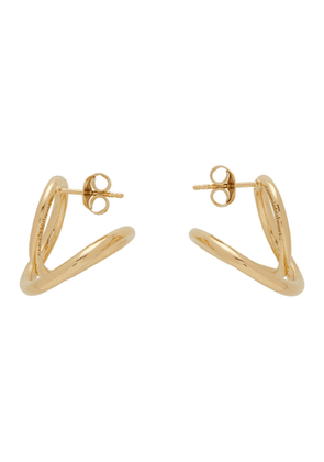 Completedworks Gold The Curve Of Time Earrings