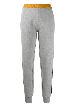 Moncler side-stripe track pants - Grey