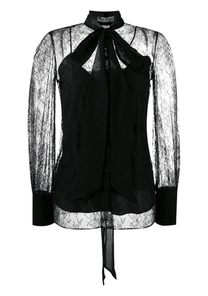 Givenchy pussy bow lace blouse - Black