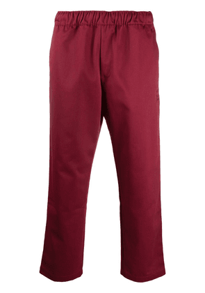 adidas high-rise cropped trousers - Red