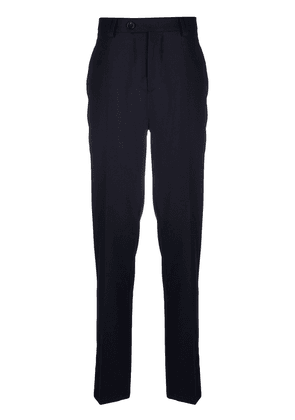 Brunello Cucinelli tapered wool trousers - Blue
