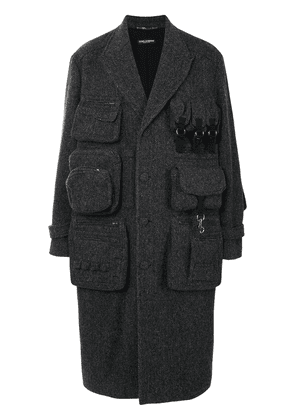 Dolce & Gabbana long-length tailored coat - Grey