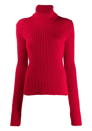 Bottega Veneta ribbed roll neck jumper - Red