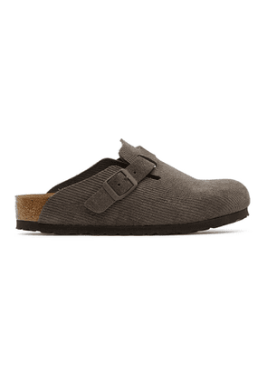 Stussy Brown Birkenstock Edition Boston Loafers
