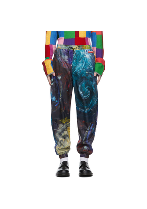 Charles Jeffrey Loverboy Multicolor Swirls Print Painters Tracksuit Trousers