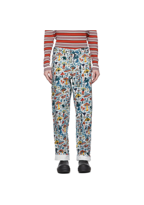 Charles Jeffrey Loverboy Multicolor Shrooms Art Jeans