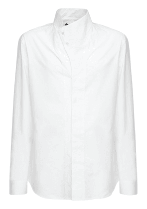 Cotton Shirt W/ Asymmetric Collar