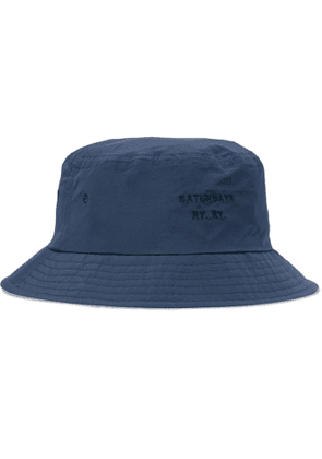Saturdays NYC - Logo-Embroidered Twill Bucket Hat - Men - Blue
