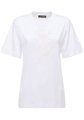 Oversize Embroidered Logo Jersey T-shirt