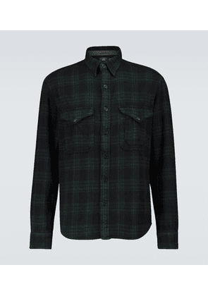 Cotton twill plaid shirt