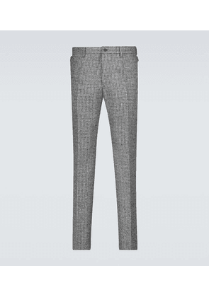Houndstooth wool pants