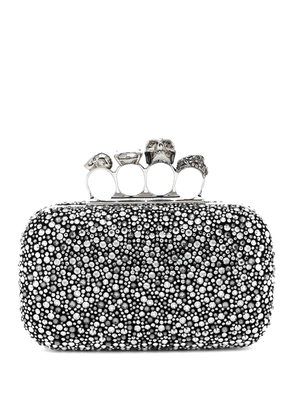 Four Ring crystal-embellished clutch