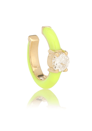 Aria 18kt gold ear cuff with diamonds