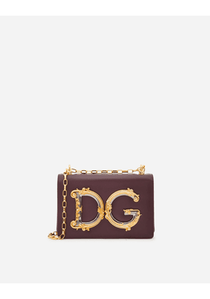 Dolce & Gabbana Collection - DG GIRLS SHOULDER BAG IN NAPPA LEATHER BORDEAUX