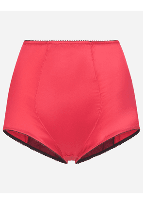 Dolce & Gabbana Collection - SATIN HIGH-WAISTED PANTIES BORDEAUX