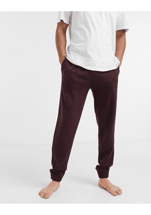 BOSS cashmere lounge joggers-Red