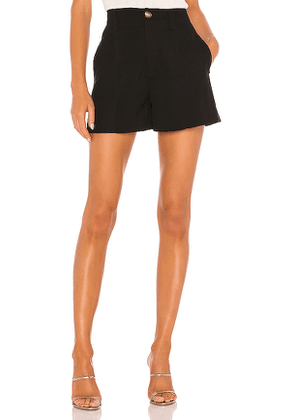 Vince High Rise Short in Black. Size 0.