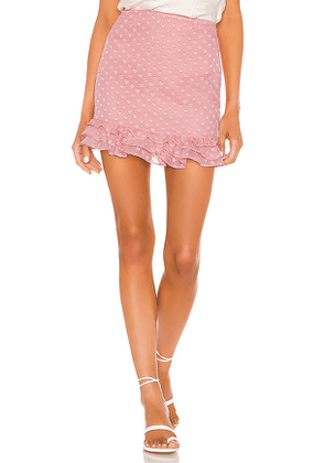 Privacy Please Rose Mini Skirt in Pink. Size M.