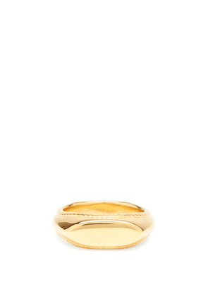 Dear Letterman - Mihna Gold-vermeil Signet Ring - Mens - Gold