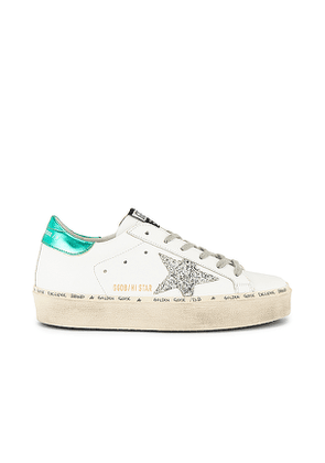 Golden Goose Hi Star Sneaker in White. Size 37,38,39,40.
