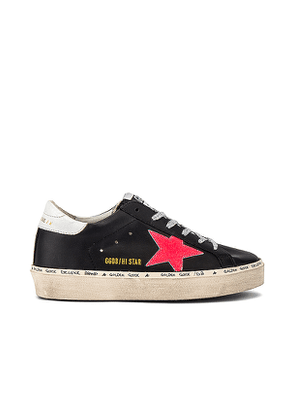 Golden Goose Hi Star Sneaker in Black. Size 37,38,39.