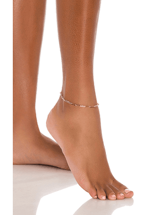 8 Other Reasons Pose Anklet in Metallic Gold.