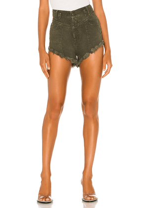retrofete Tessa Shorts in Army. Size 26,27,28,29,30.