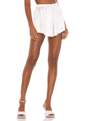 LPA Flirty Satin Shorts in Pink. Size XXS,S,M,L,XL.