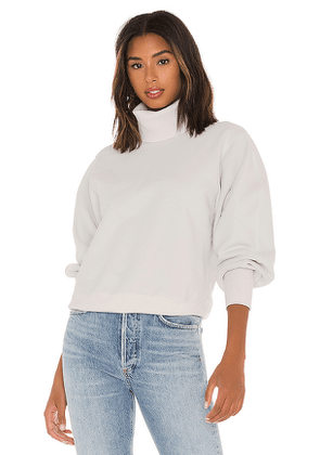 AGOLDE Extended Rib Sweatshirt in Light Grey. Size S,M,L.