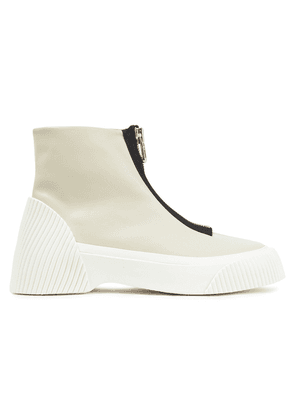 3.1 Phillip Lim Zip-detailed Leather Ankle Boots Woman Cream Size 36