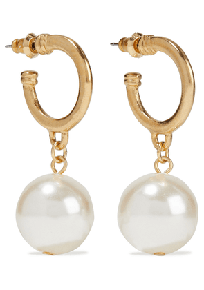 Ben-amun Gold-tone Faux Pearl Hoop Earrings Woman Gold Size --